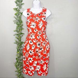 WHIT Blaire tulip hem dress in daisy print